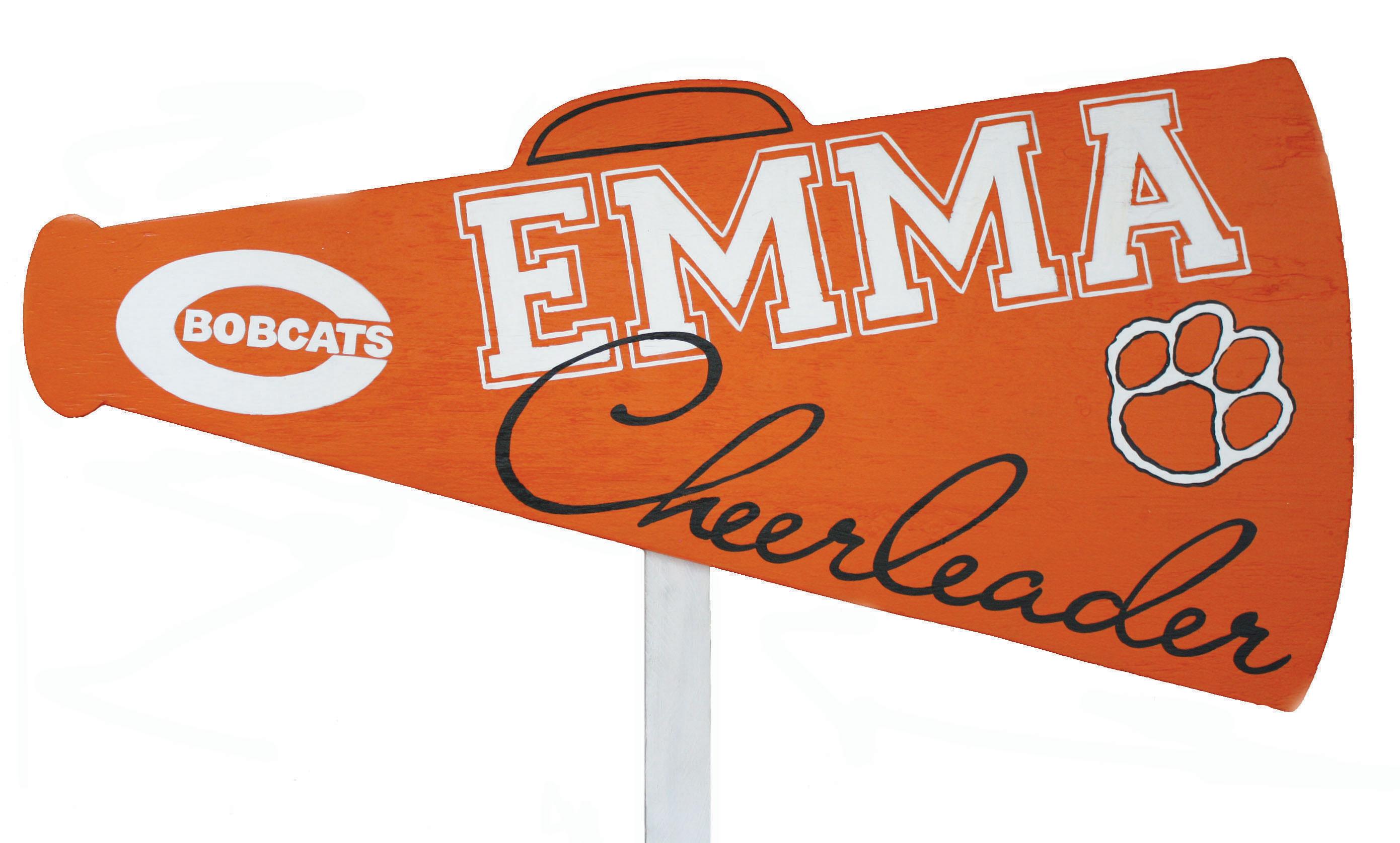 cheerleader yard signs